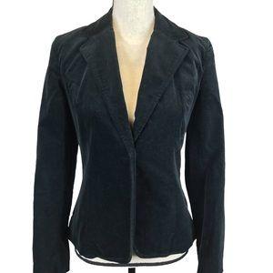 GAP Black Velvet Blazer Jacket Satin Tie Front